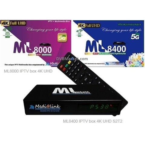 Medialink ML8400 UHD IPTV S2T2